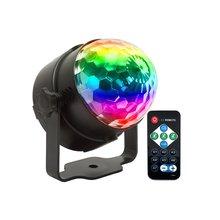 Led petite boule magique lumières de scène boule magique en cristal coloré lumières tournantes lumières de Projection de Festival
