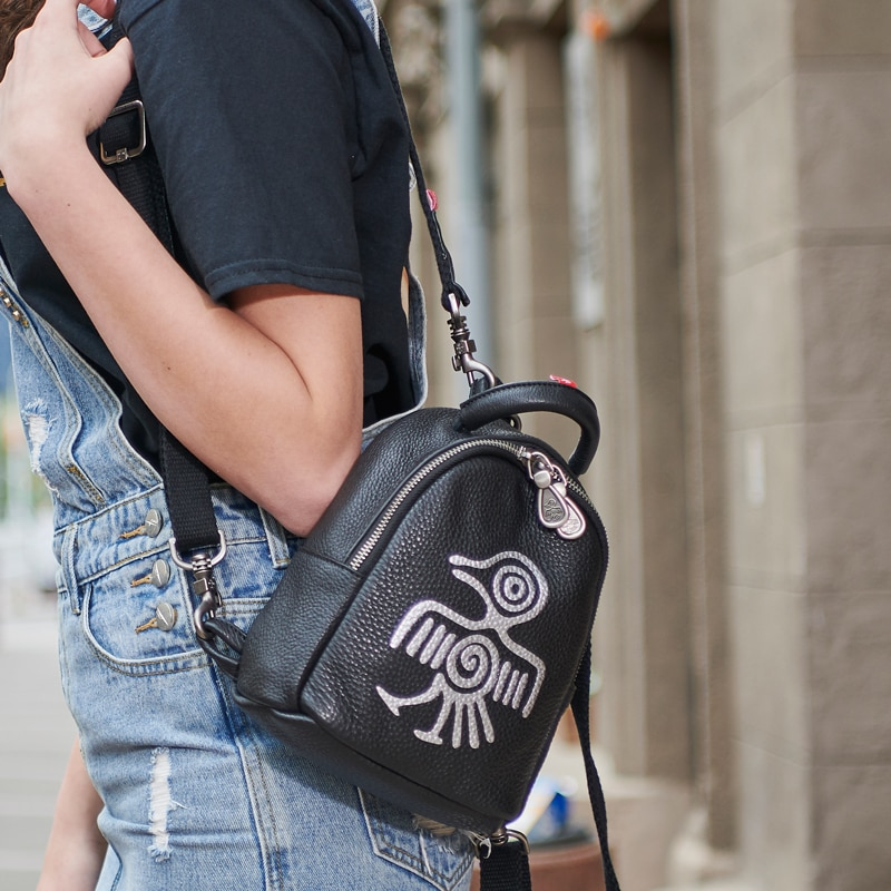 Orabird حقيبة ظهر صغيرة للنساء لطيف خمر جلد طبيعي صغير حقيبة ظهر للفتيات عادية حقيبة ظهر تحمل على الكتف 2020