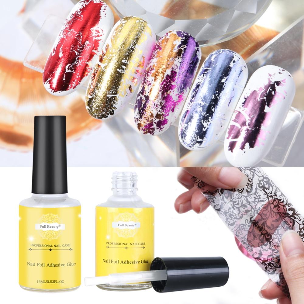 Pegamento para uñas de 15ml para transferencia, adhesivos de lámina, Gel adhesivo para uñas, puntas de papel estrellado, sin necesidad de secadora, herramientas de diseño de manicura TR947