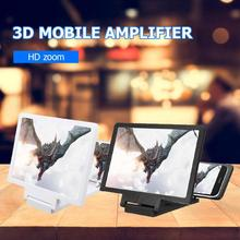 3DPhone pantalla lupa estereoscópica amplificación escritorio plegable soporte de cuero teléfono móvil soporte de la tableta dropshipping