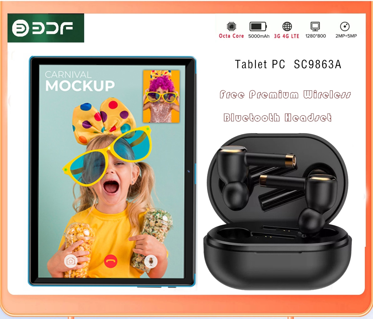 New Buy Tablet 10.1 Inch Tablet PC Android 4G Octa Core 4GB RAM 64GB ROM Tablets Android 10 Dual Wifi Type-C +Bluetooth Headset