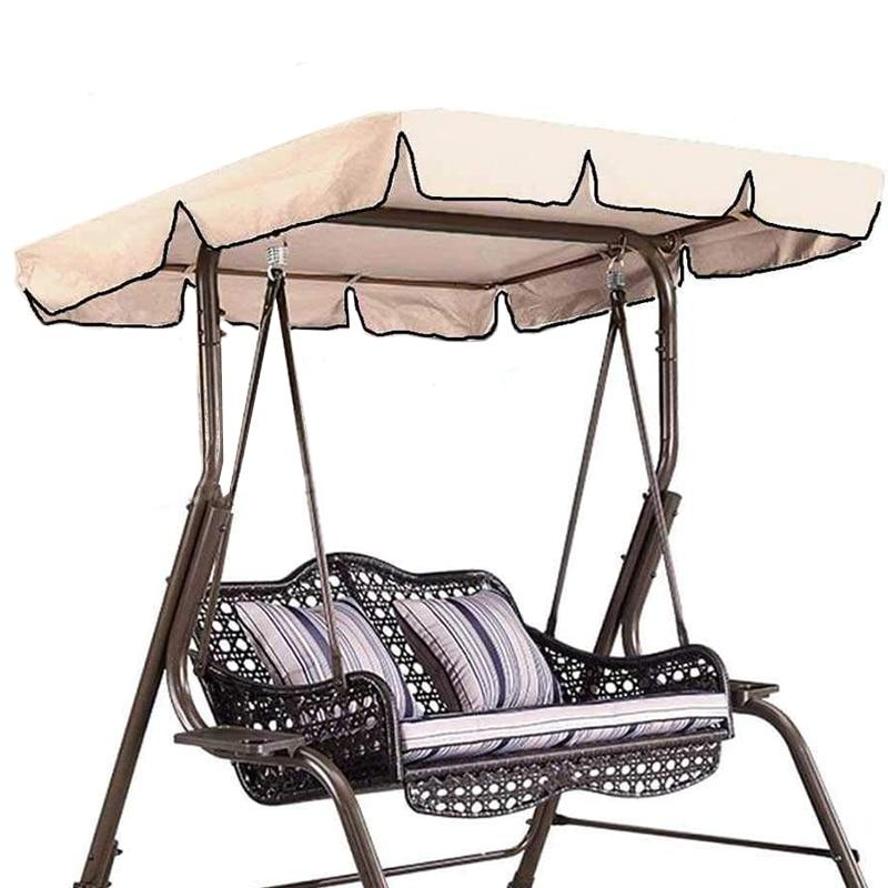 Cubierta superior para toldo oscilante, toldo de reemplazo para jardín, porche exterior, cubierta de equilibrio (beis 55X47X7 pulgadas)
