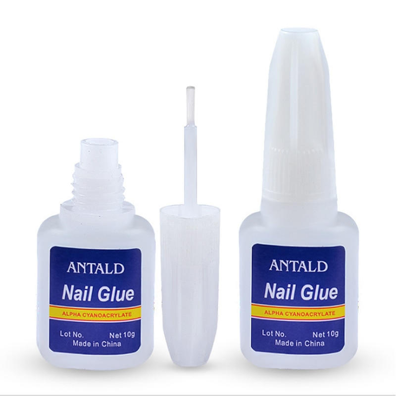 10g Fast Drying Nail Glue for False Nails Glitter Acrylic Decoration with Brush False Nail Tips Glue