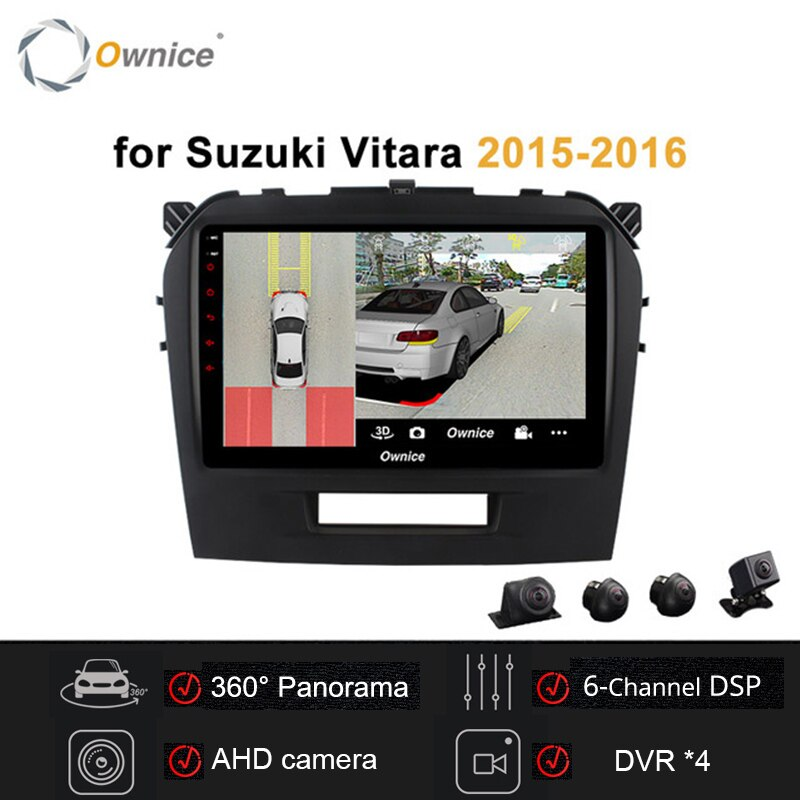 "Ownice 9"" 2 din Android 9.0 Car Radio Stereo for Suzuki Vitara 2015 -2018 Car DVD player GPS player 360 Panorama DSP 4G LTE"