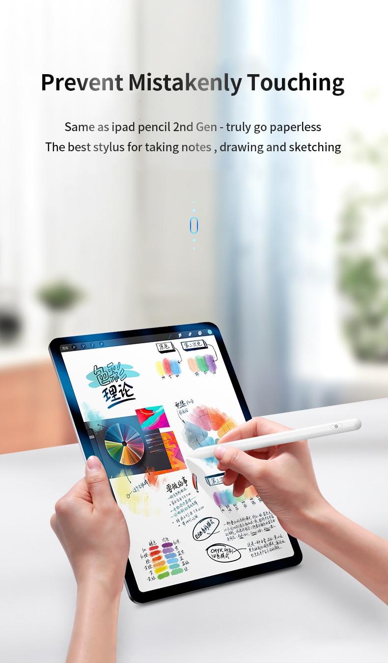 Lápiz táctil para Apple para iPad lápiz, estilete para iPad Pro 11 2020 Pencil Pro 12,9/9,7 2018 2019 con rechazo de Palma