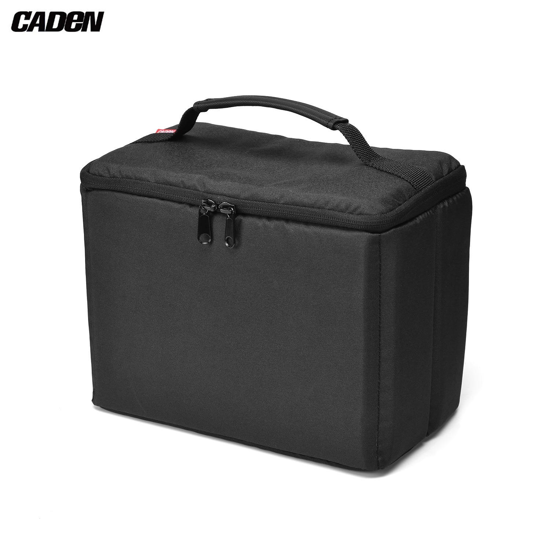 CADeN H8 resistente al agua Cámara insertar bolsa mochila a prueba de golpes con mango superior Compatible con Canon Sony Nikon Olympus DSLR