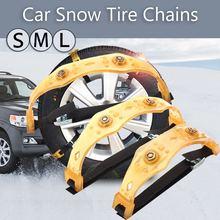 Chaînes de neige universelles pour voiture   S/M/L Tendon de boeuf, véhicules roue pneu antidérapant, chaîne TPU outil dhiver, chaînes antidérapantes, nouveau 1 pièce