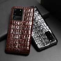 leather phone case for samsung s21 ultra s10 s10e s9 s8 s7 note 8 9 10 20 plus a20 a30 a50 a70 a51 a71 a8 crocodile tail texture