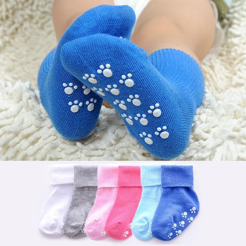 Cotton Baby Socks Candy Color Anti Slip Baby Girl Socks Newborn Baby Boy Socks For 1-3 Years Soft Kids Floor Socks recien nacido