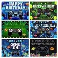 balloon gamepad game on level up play baby shower boy birthday party backdrop photography background photophone photocall