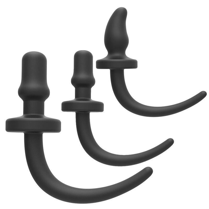 XXXL Silikon Anal Plug Ile Köpek Kuyruk Bdsm Kölelik Tilki Kuyruğu Fişi Çiftler Cosplay Oyunu Erotik Oyuncak Seks Aksesuarları