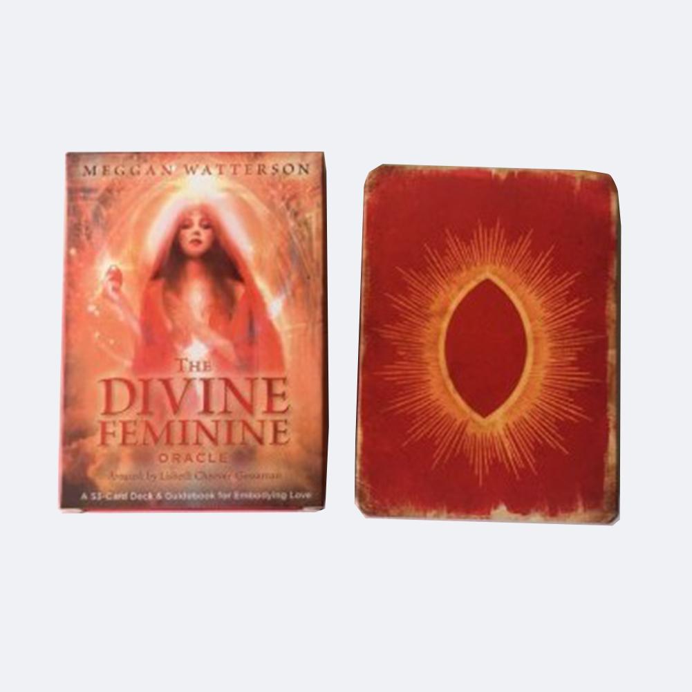 53 Uds divino femenino Oracle cartas del Tarot cubierta juego de mesa para fiesta jugando mesa para cartas juegos de entretenimiento