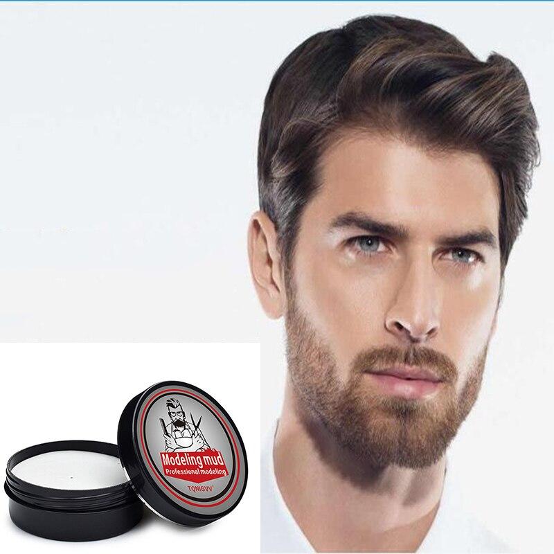 Сильный удерживающий воск для волос, крем для укладки, низкий блеск, Формовочная помпа, одноразовые, сильные волосы, в форме грязи, глина для волос, гель для мужчин 70 г