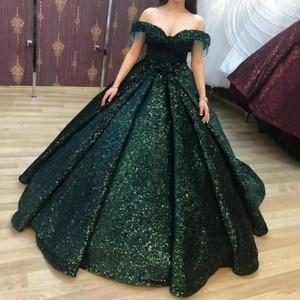 Evening Prom Dresses 2020 Woman Party Night Muslim Ball Gown Gold Long Plus Size Dresses