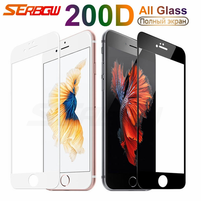 200D Full Tempered Glass For iPhone 7 8 6 6s 5 5S 5C SE 2020 Screen Protector Glas For iPhone 7 8 6