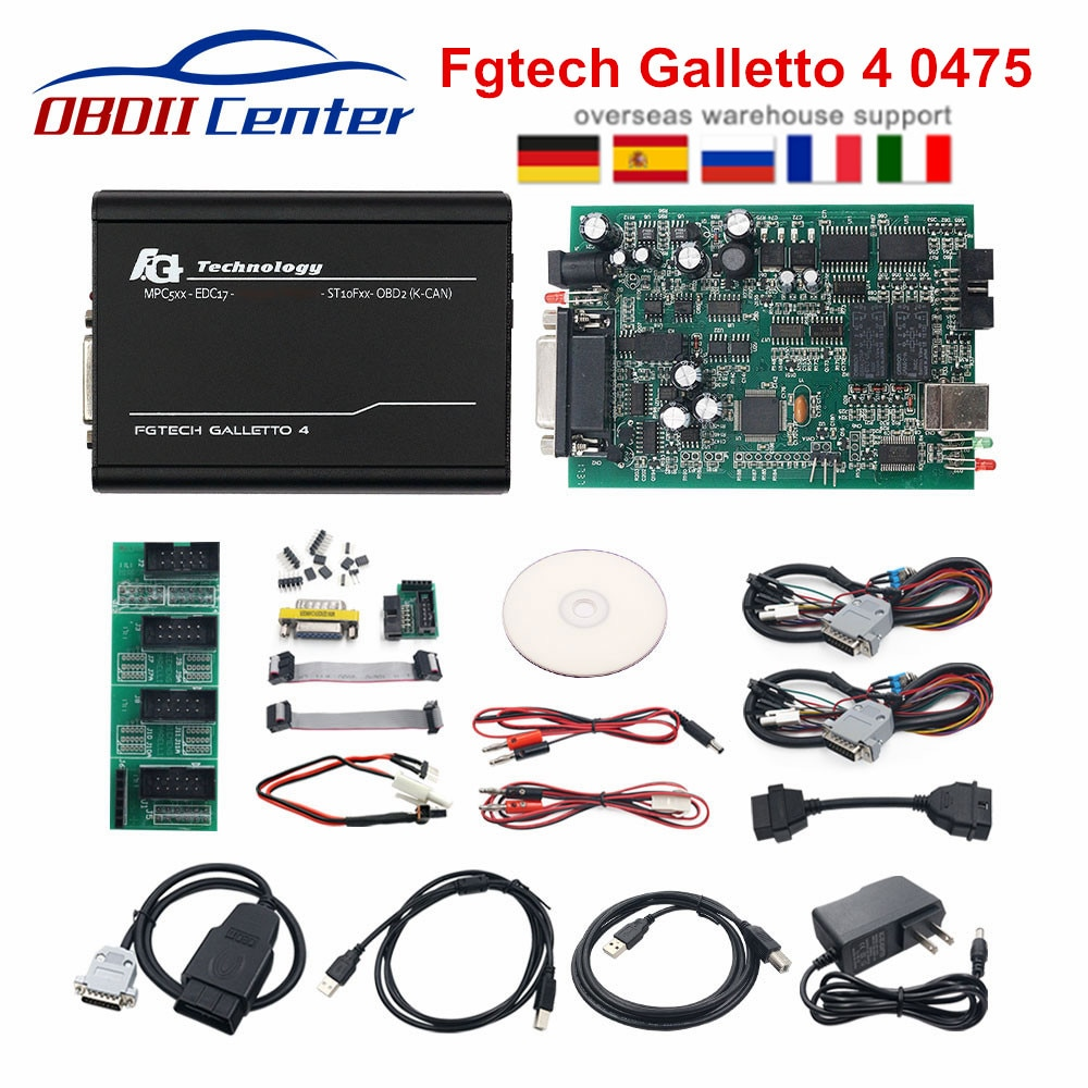 Newly Galletto 4 V54 Fgtech 0475 Euro Version Ecu Chip Tuning Tool Fg Tech FW 0475 Euro Master Online Version Update of 0386