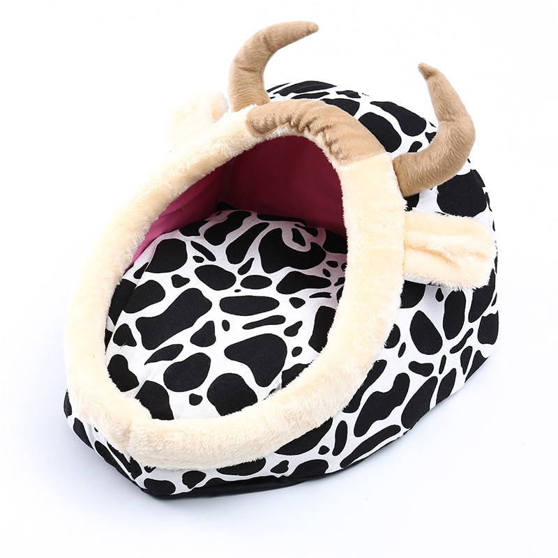 Nido cálido para mascotas sofá cama saco de dormir cama de perro Super suave Casa de mascotas gato cama de perro cesta de cuatro estaciones de Lujo para mascotas