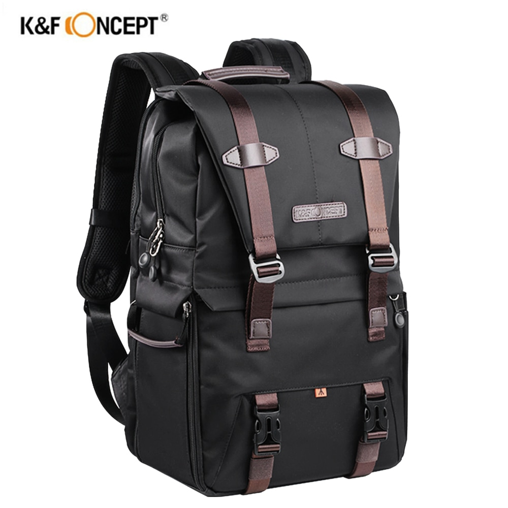 K & F مفهوم كاميرا سعة كبيرة على ظهره مقاوم للماء متعددة الوظائف حقيبة سفر لكانون نيكون سوني التصوير حقيبة الكاميرا