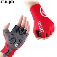 Giyo Breaking Wind ciclismo medio dedo guantes antideslizantes bicicleta Lycra tela mitones MTB guantes de carreras de carretera