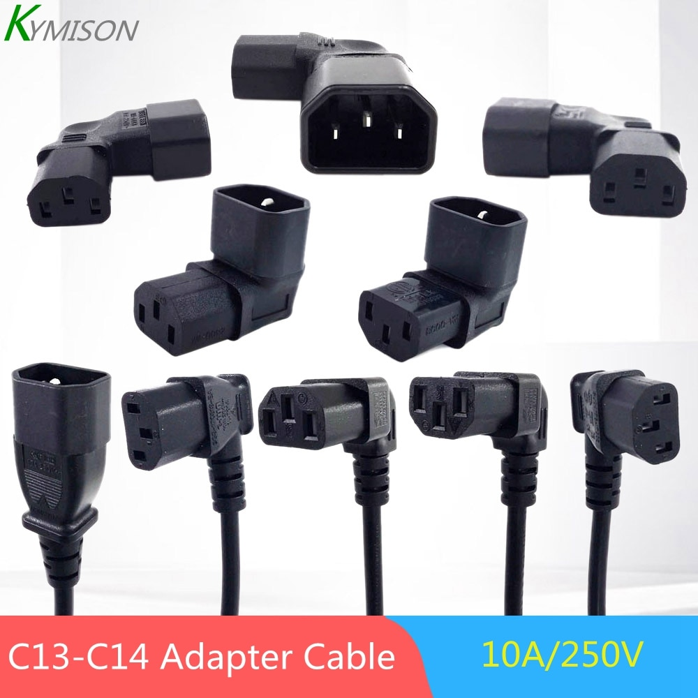 C13-C14 Angle Power Cable Connector IEC 320 C13 Female to C14 Male PDU Power Supply Extension Cord,I