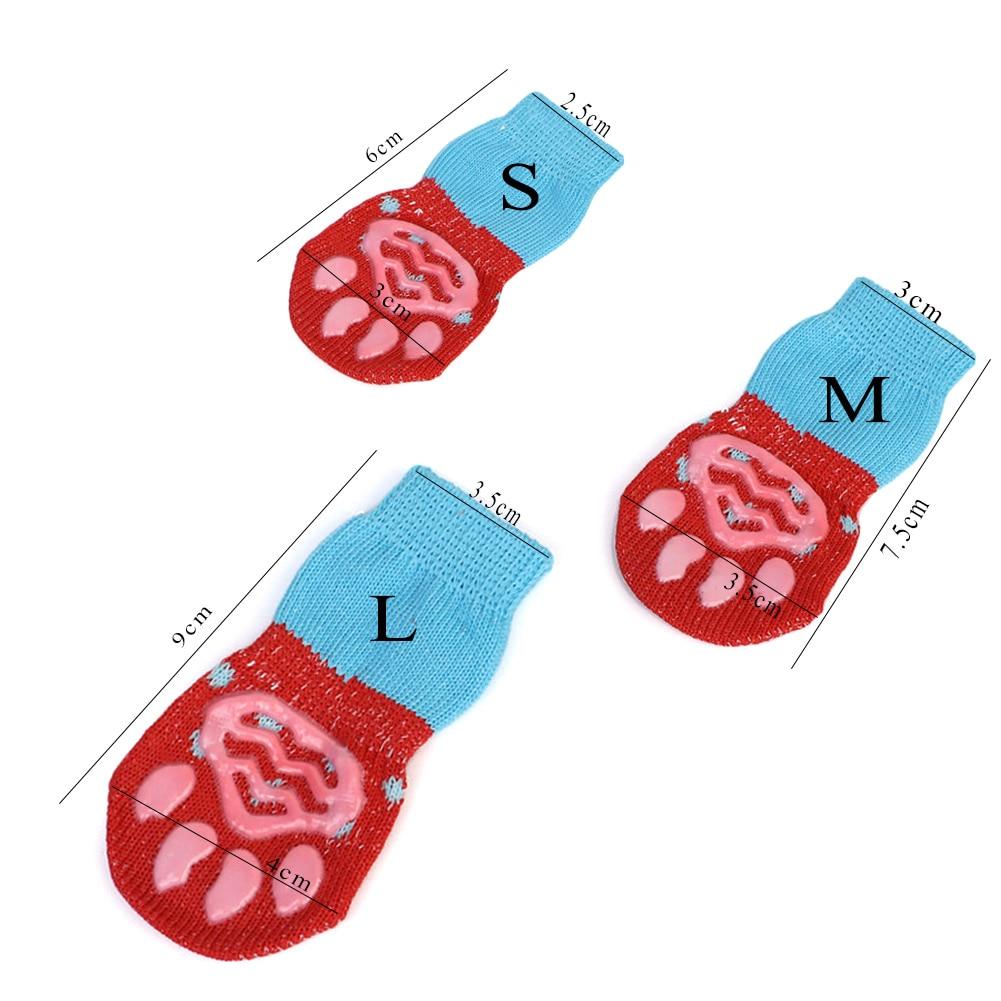 4 vnt / rinkinys mielų šuniukų šunų megztų kojinių mažiems - Naminių gyvūnėlių produktai - Nuotrauka 6