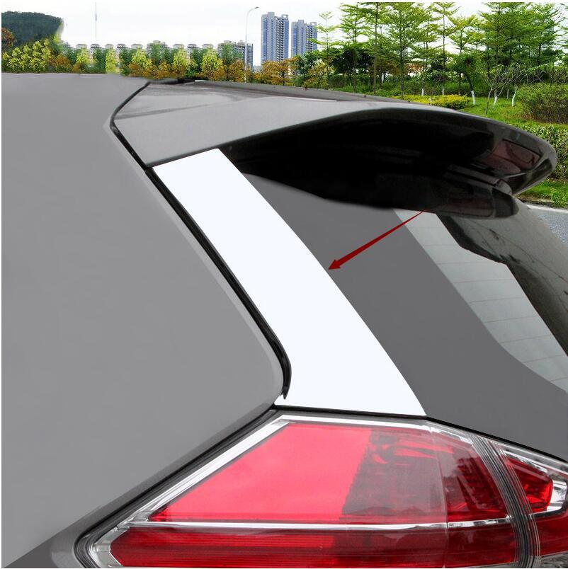 Для Nissan Rogue x-Trail t32 2014 2015 2016-2019 хромированный задний спойлер для окна боковая стойка Крышка стойки отделка Литье нержавеющая 2 шт