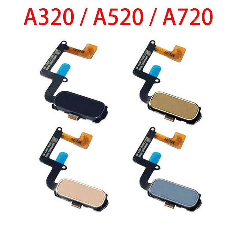 Sensor de huella dactilar con ID táctil, tecla de retorno de inicio, botón de menú, Cable flexible para Samsung Galaxy A3, A320, A5, A520, A7 (2017), A720, A520F, A320F