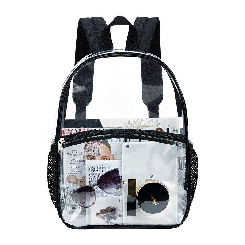 Прозрачный рюкзак из ПВХ, модный прозрачный рюкзак для влюбленных, модная Корейская версия студенческой желейной сумки