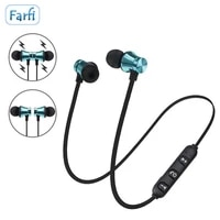 magnetic music wireless bluetooth earphone stereo headsets sports in ear headphones with microphone for iphone xr samsung xiaomi