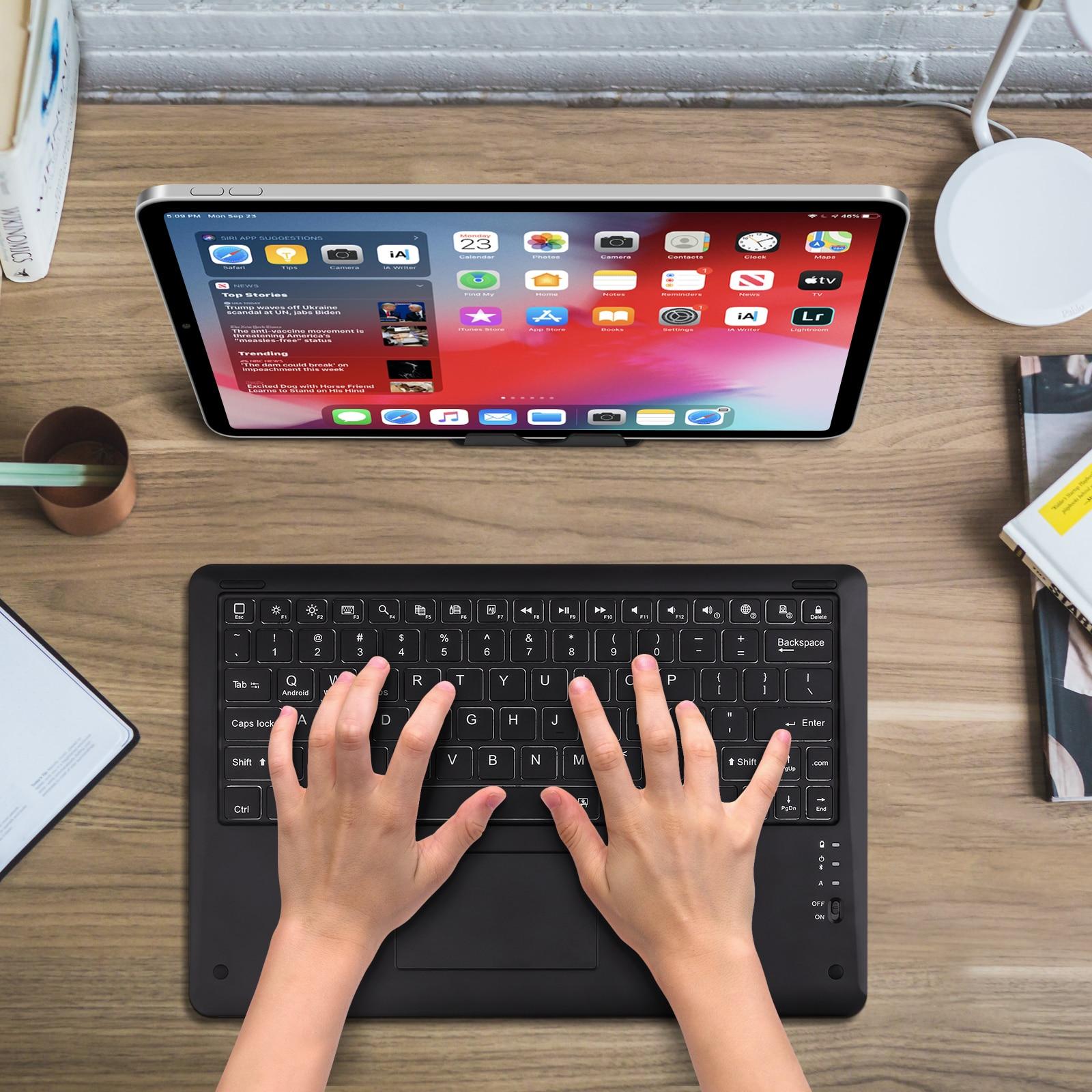 "12"" Wireless Bluetooth Keyboard For iPad Pro 12 9 2021 Teclado Bluetooth For iPad Keyboard Pro 11 Android ios Windows PC Laptop"