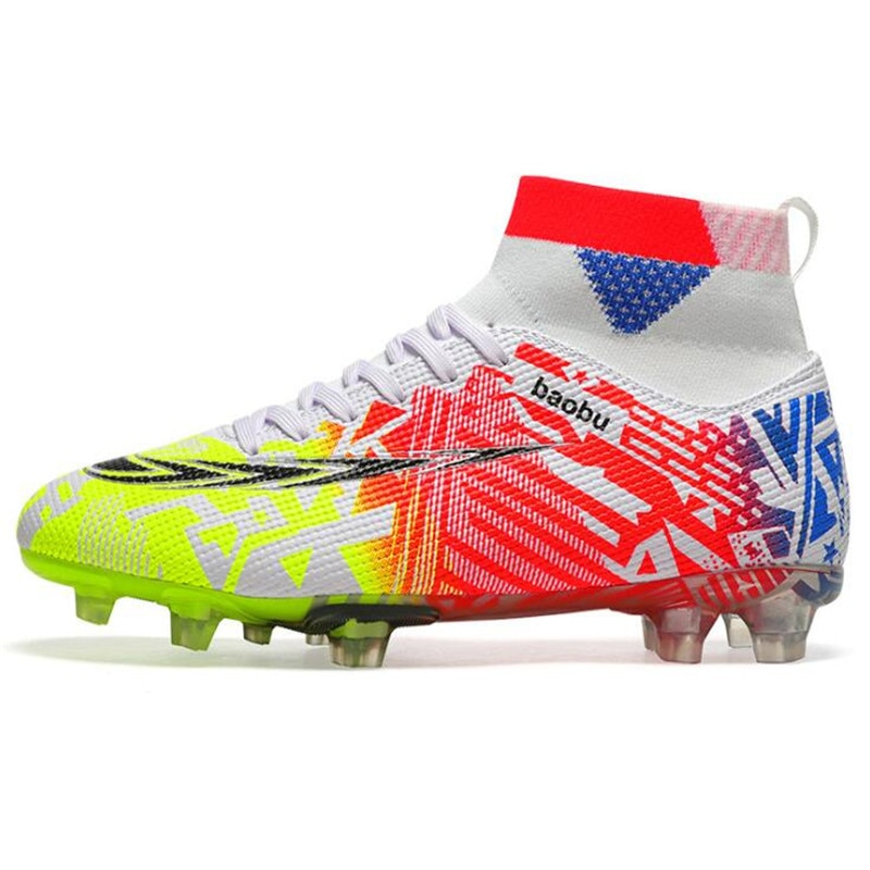 Уличные футбольные бутсы, мужские кроссовки, футбольные бутсы, детские футбольные бутсы с шипами AG/FG, тренировочные спортивные футбольные б...