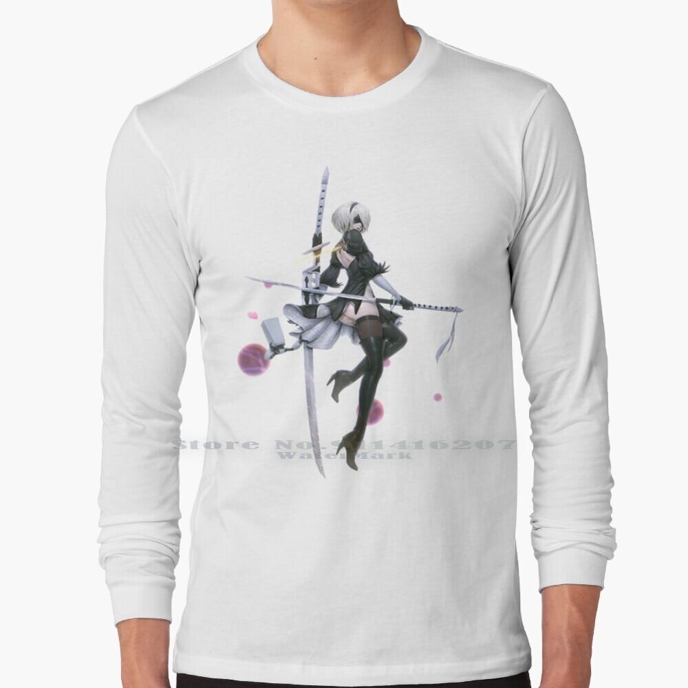 Nier : Automata - 2b T Shirt 100% Pure Cotton 2b Nier Automata Video Games Gaming Ps4 Anime Nier Automata