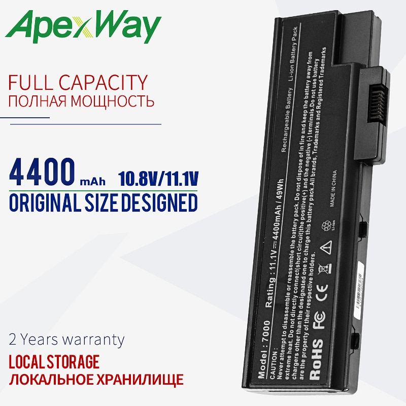 Batería de 4400mAh para Acer Aspire 3660, 5600, 5620, 5670, 7000, 7100, 7110, 9300 4UR18650F-2-QC218 BT.00803.014 BTP-BCA1 LC? BTP01.013