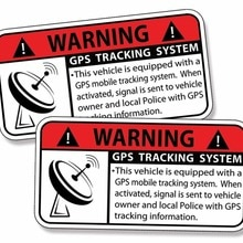 GPS Sticker Anti Theft Vehicle Tracking Security Warning Alarm Safety Decal Car