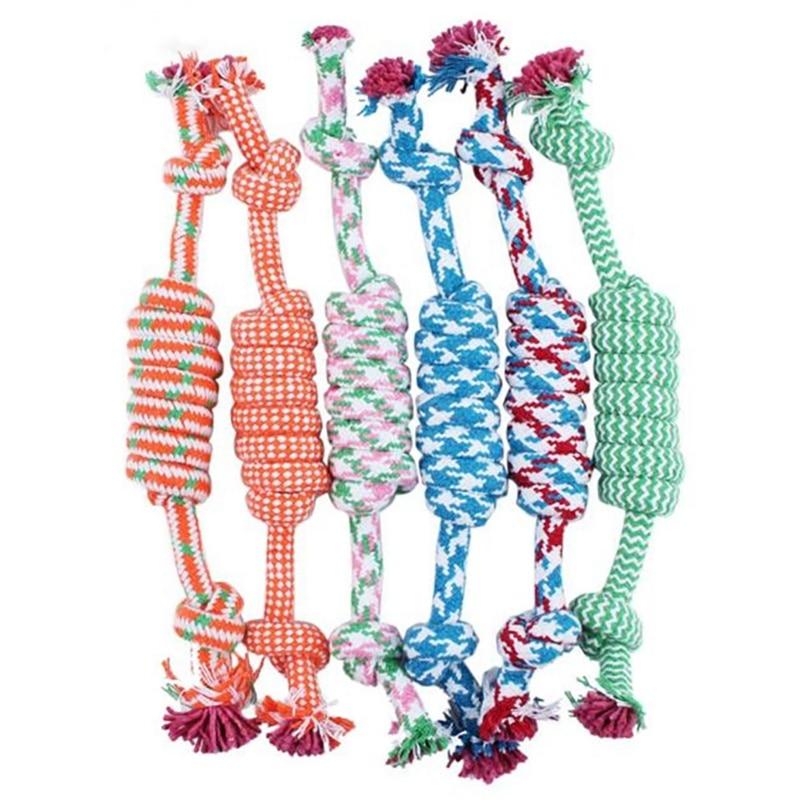 Juguetes para mascotas, masticable, adiestramiento al aire libre, juguetes de colores aleatorios para gatos y perros, juguete de nudos de cuerda en forma de ratón tejido a mano