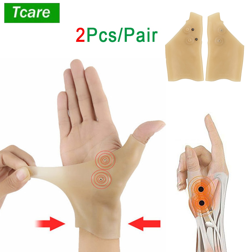 AliExpress - Tcare 2Pcs/Pair New Magnetic Therapy Wrist Glove Silicone Arthritis Pain Relief Wrist Glove Heal Joints Pressure Corrector Glove