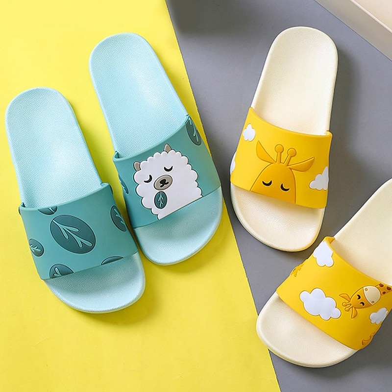 Summer Slides Cartoon Women Men Slippers Cute Animal Dog Sheep Home Slip on Beach Sandals Bothroom Shoes Flip Flops Zapatillas