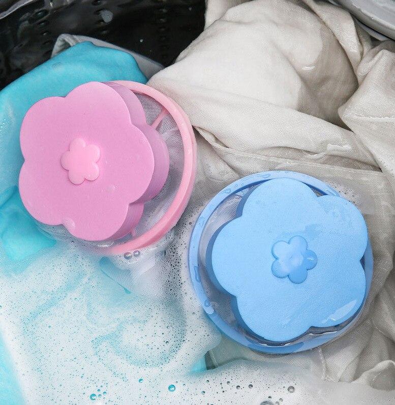 2020 nueva bolsa de filtro para lavadora, bolsa de rejilla de algodón flotante para la familia, bolsa de succión de pelo para eliminar residuos de pelo, bolsa de lavandería