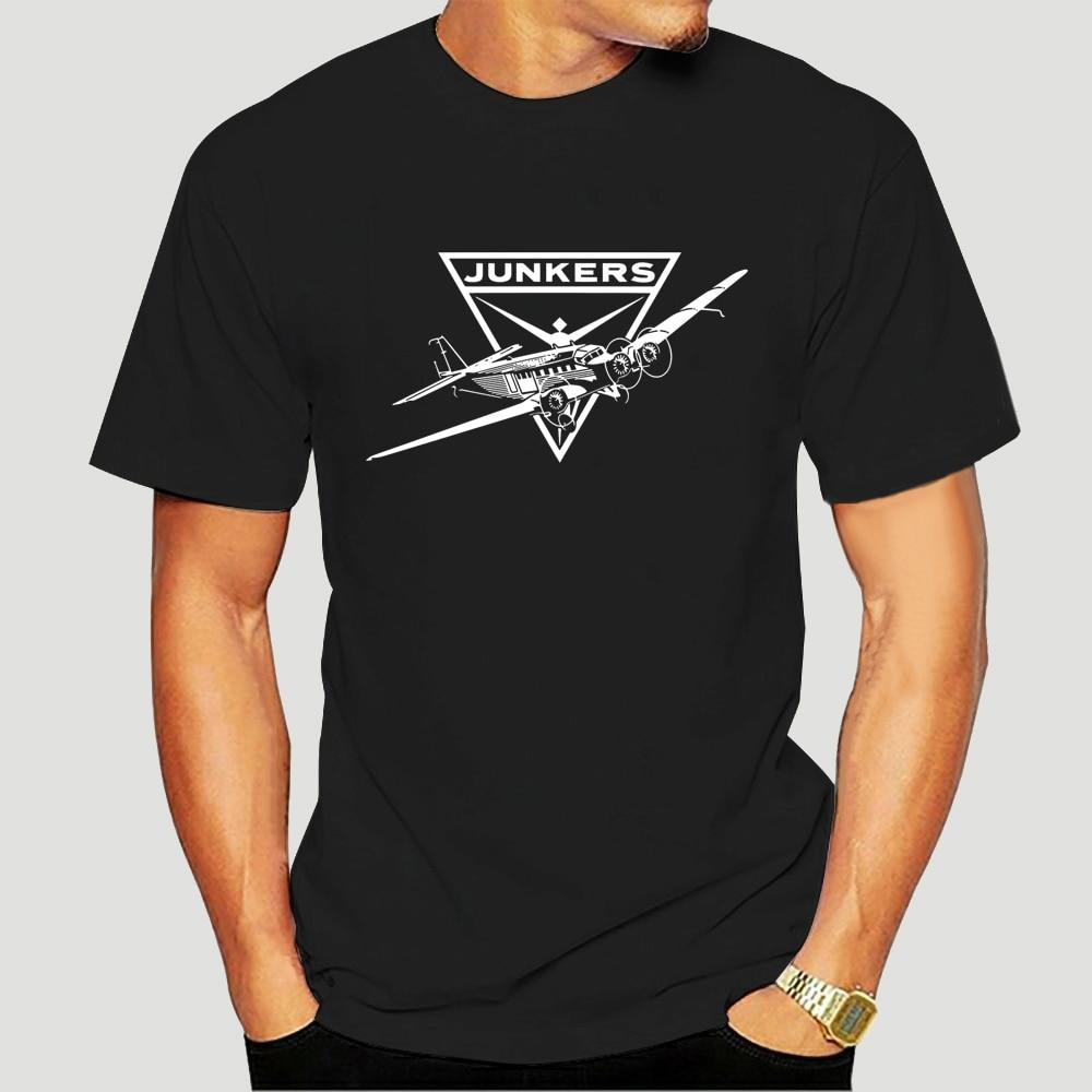 Camisa de impressão masculina tendência 100% algodão para homem t camisas design tante ju 52 hugo junkers luftwaffe aeronaves flieger 9613d