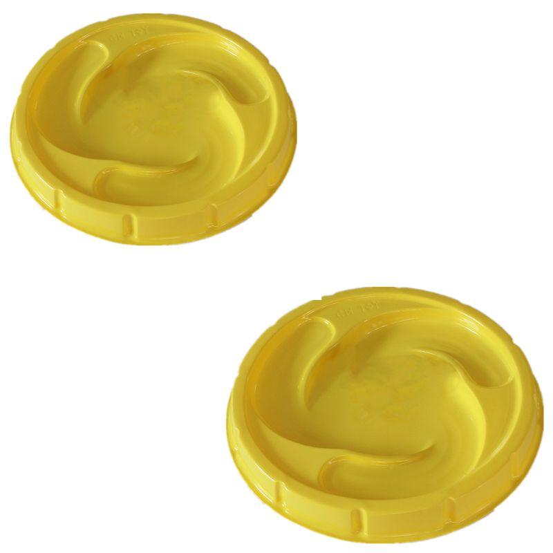 Disco de Arena amarilla 2 uds. Para Gyro Beyblad Burst, gran duelo, estadio giratorio, Y4UD
