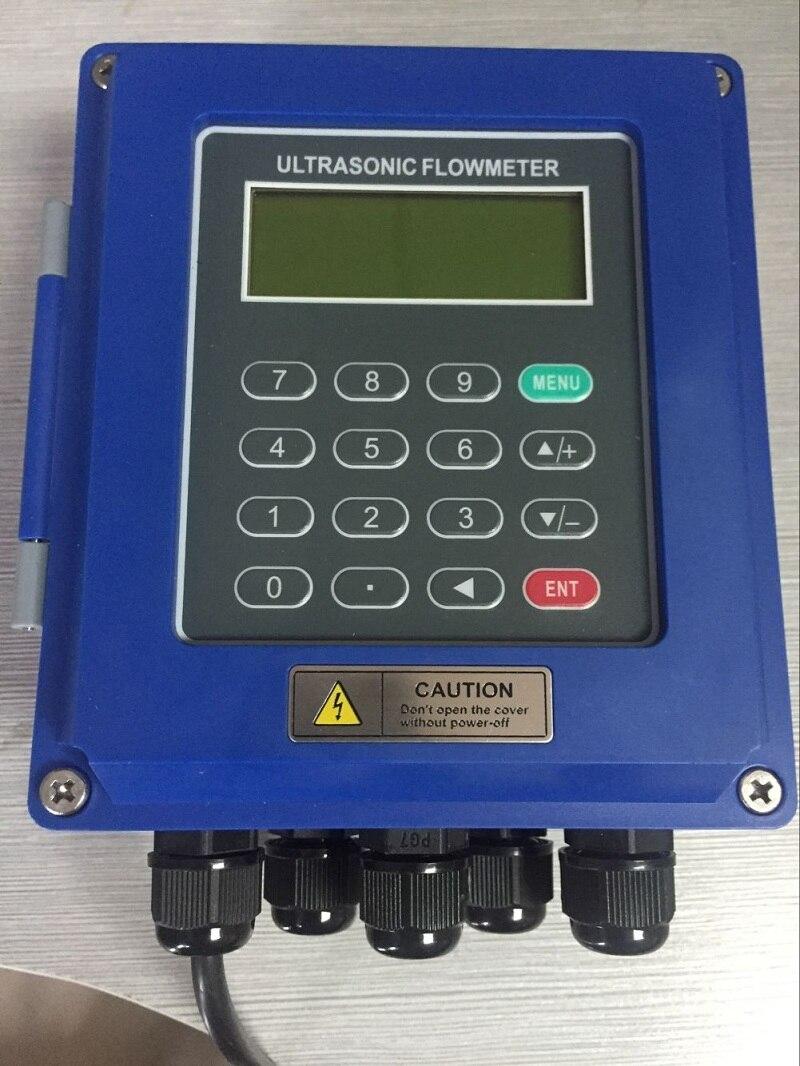 Caudalímetro ultrasónico TUF - 2000 b, caudalímetro portátil fuera de las secciones de combinación de tubos enchufables con clip