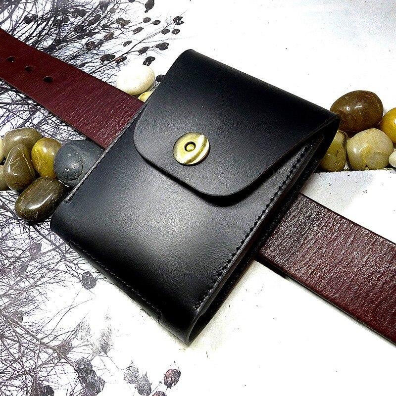 Небольшая поясная сумка Blongk из натуральной кожи, миниатюрный Чехол Для водительских прав, кредитница, чехол для автомобильных ключей сигар...