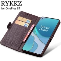 case for oneplus 8t luxury wallet genuine leather case stand flip card for oneplus 7t pro hold phone book cover bag