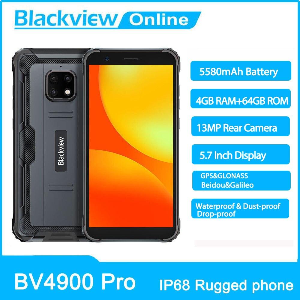 Blackview BV4900 Pro IP68 Waterproof Smartphone 4GB+64GB 5580mAh 13MP Camera Rugged Phone 5.7 inch Mobile Phone 4G Cellphone
