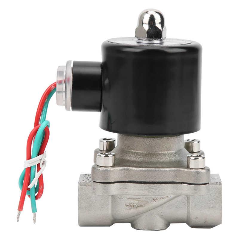 G3/8 3/4 Polegada de aço inoxidável válvula solenóide ação direta normalmente colsed para a água óleo de ar válvula de equipamento industrial