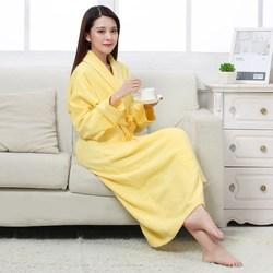 100% algodão toweling terry longo robe banho macio robe para mulher nighttrobe sleepwear feminino outono inverno casual casa roupão
