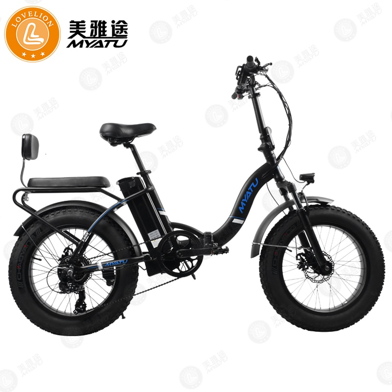 [MYATU] bicicleta plegable de 20/26 pulgadas 48V para nieve y montaña, bicicleta plegable 4,0, bicicleta eléctrica con batería de litio, marco de aleación de aluminio para ciclomotor