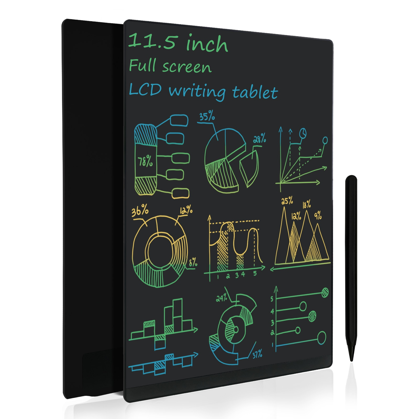 11.5 Inch Ultrathin Full Screen LCD Writing Tablet Built-in Magnets Innovative Graphic Drawing Pad Memo Boards for Work and Home