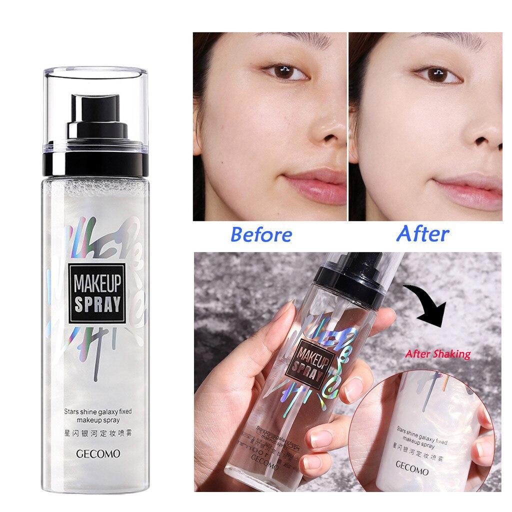 Spray de larga duración de 100ml para ajuste de maquillaje, Control de aceite, hidratación, fijación de niebla, tóner facial