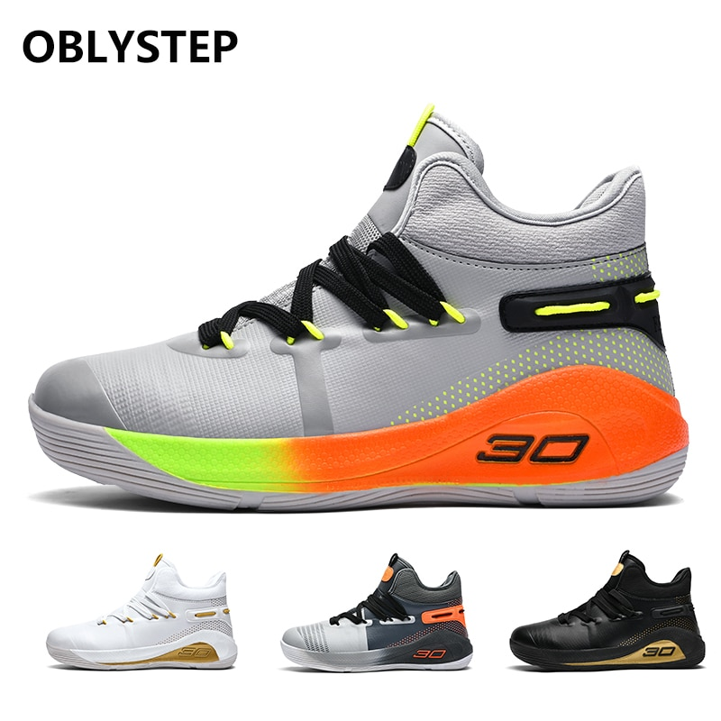OBLYSTEP 2020 Mens Basketball Shoes Outdoor Non-slip High-top Ladies Training Sneakers